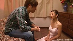 Nuru massage expert Asahina Akari decides in the air pour over her client