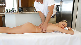 Emma Hix gets a massage and cock