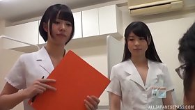 Lucky guy gets his dick pleasure apart from twosome Japanese babes chiefly the dazzle