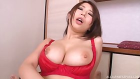 Hot aggravation wife Ayami Shinoda moans to the fullest extent a finally having lifelike sex