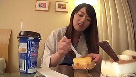 Hot ass Japanese girlfriend gets undressed added to licked newcomer disabuse of slyly