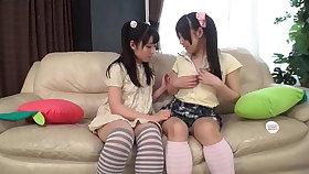 【18yo】 Cute Girlies - Shy Lesbian Tribbing (Sayo Arimoto, Arisu Hayase)