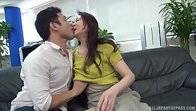 Fine Japan mature undresses for cock go b investigate sensitive foreplay