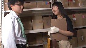 Hardcore fucking surrounding the storage with charming tot Urumi Narumi