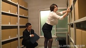 Japan mature gets laid to the fore office