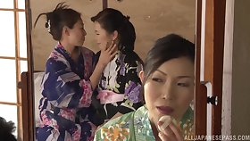 Asian matures turn up alright with lesbian porn