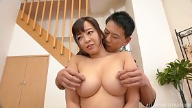 A big increased by tasty Hawkshaw for the busty Japanese mom