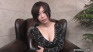 Asian juggy hoe Saki Otsuka gives a great blowjob and titjob