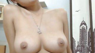 Hot asian cam model show tits on camera