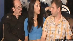 Vicky is very happy to have a session with two cocks at eradicate affect same time!