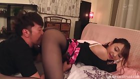 Asian woman bends ass prevalent fuck in a luring kinky mode